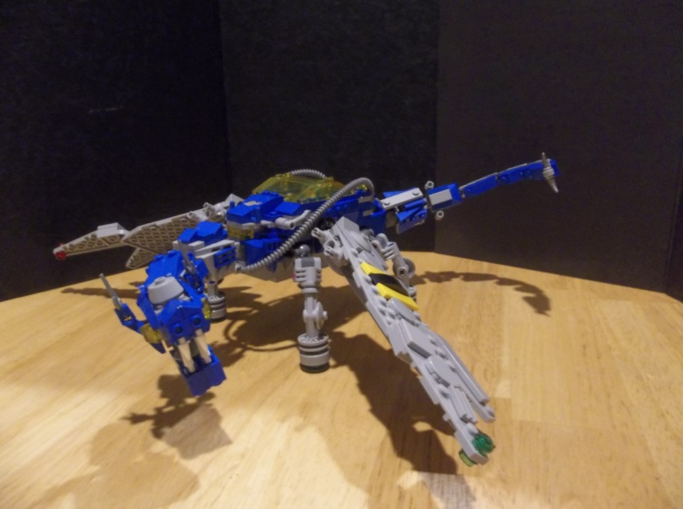 The completed Space Dragon
